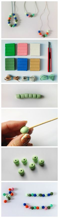 Learn how to make your own colourful polymer clay beads with this step-by-step tutorial.