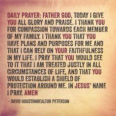 Daily Prayer Good Prayers, Special Prayers, Bible Prayers, Angel Prayers, Beautiful Prayers, Spiritual Prayers, Spiritual Guidance, Spiritual Armor, Healing Prayer