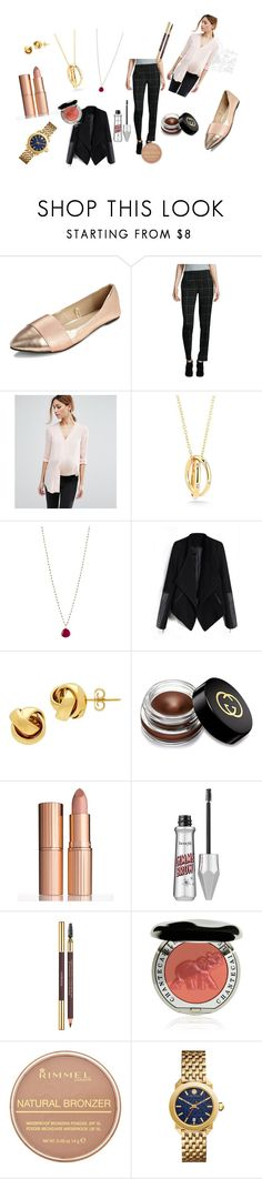 """""""work look"""" by shellysakhd on Polyvore featuring Elie Tahari, ASOS, Elizabeth and James, Jemma Sands, Lord & Taylor, Gucci, Charlotte Tilbury, Yves Saint Laurent, Chantecaille and Rimmel"""