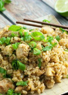 Low FODMAP Recipe and Gluten Free Recipe - Spicy chicken fried rice
