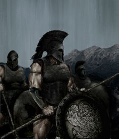 The Ancient Spartan Military - Weapons, Warriors and Warfare. The Military of Sparta and their wars. Spartan battles, wars and armor. Hoplite warfare and the battle of thermopylae. Fantasy Warrior, Greek Warrior, Fantasy Art, Spartan Military, Spartan Warrior, Viking Warrior, Alter Krieger, Spartan Tattoo, Warrior Spirit