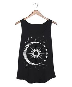 Another great find on #zulily! Black Celestial Sun & Moon Tank - Plus #zulilyfinds