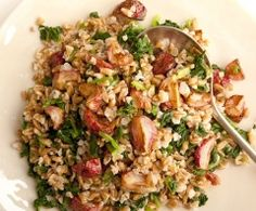 Roasted Radish & Farro Salad - Farro is an ancient type of soft wheat that is often used in soups and salads in Italy. It's even used instead of rice to make a type of risotto called farrotto.   Farro's delicious nutty taste makes a wonderful base to bulk up cooked vegetable salads during chemo.