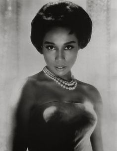 "Diahann Carroll - The Bronx-born actress rose to stardom in the operatic films ""Carmen Jones"" and ""Porgy and Bess"" in the but her most memorable aria resounded on prime-time TV when she became the first African-American woman to star in a sitcom, ""J Pin Up Vintage, Vintage Black Glamour, Vintage Style, Black Actresses, Black Actors, Actors & Actresses, Black Celebrities, Celebs, Famous Celebrities"