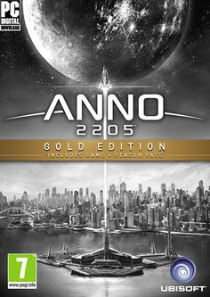 Anno 2205 - Gold Edition / Königsedition - uPlay Key Code Digital [No Steam] PC Electronic Arts, Pc System, Game Codes, Me On A Map, Online Games, Soundtrack, Cover Art, Book Art, Gold
