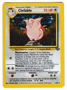 Pokemon Card Clefable