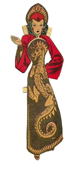1 DRAGON LADY from Terry and the Pirates c. 1940