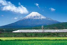 Mt. Fuji and Shinkansen 冨士山と新幹線 緑編