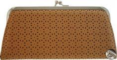 Dámska peňaženka kožená s klipom, perforovaný vzor, béžová 10182 www.vasepenazenky.sk