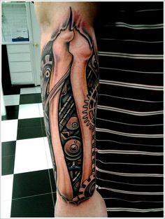 Biomechanical tattoo design (11)