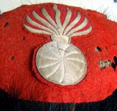 Extremely Rare top view of a French First Empire Old Guard Bearskin.Circa.1808.