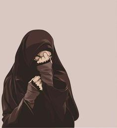 kumpulan anime kartun muslimah bercadar terbaru - my ely Hijab Niqab, Muslim Hijab, Mode Hijab, Cute Muslim Couples, Muslim Girls, Girl Cartoon, Cartoon Art, Tmblr Girl, Hijab Drawing