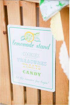 FREE lemonade stand sign printable