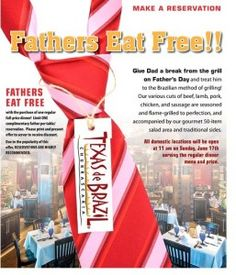 Dining Deals: Dads eat free this Father's Day weekend at Denny's, Buca di Beppo, Texas de Brazil and more…