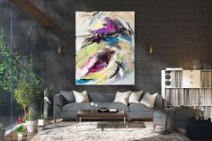 Large Painting on Canvas,Original Painting on Canvas,painting for home,large wall art decor,large art on canvas FY0028