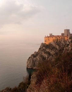 Trieste - Italy -Duino Castle, just outside Trieste, is the seat of the Thurn and Taxis family and...