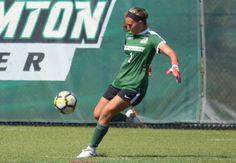 In her freshman year at Binghamton, Haylee Poltorak has become a fixture in goal for the Bearcats, appearing in each of her team's 15 matches to date. College Soccer, Freshman Year, Top Drawer, Team S, How To Become, Goals, Running, Freshman, Keep Running