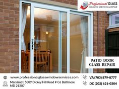Professional Glass Repair provides best and quick Service of Patio Door Glass Repair. For more information visit us at Professional glass Window services. Window Repair, Broken Window, Glass Repair, Glass Replacement, Patio Doors, Glass Door, Windows, Home Decor, Window