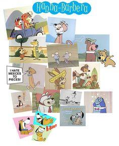 I loved these cartoons - Yogi & BooBoo, Wally Gator, Quick Draw McGraw, Snagglepuss, Augie Doggie....