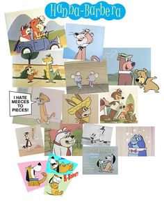 I loved these cartoons - Yogi & BooBoo, Wally Gator, Quick Draw McGraw, Snagglepuss, Augie Doggie....