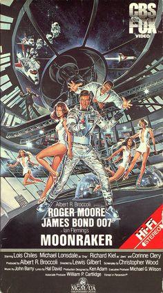 James-Bond-Moonraker James Bond Movie Posters, James Bond Movies, Vintage Movies, Vintage Posters, James Bond Cars, Rocky Horror Picture, Roger Moore, Bond Girls, Pulp Fiction
