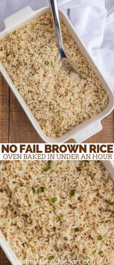 Perfect Brown Rice made in your oven with a no-fail time tested method that is so easy even non-cooks love this recipe for dinner or meal prep dinner Chinese brownrice bakedrice rice dinnerthendessert Oven Baked Rice, Baked Brown Rice, Brown Rice Diet, Healthy Rice Recipes, Vegetarian Recipes, Cooking Recipes, Healthy Brown Rice Recipes, Keto Recipes, Healthy Dinners