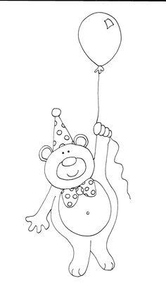 Birthday Bear Balloon