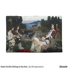 Saint Cecilia Sitting in the Garden Travel Accessory Bags