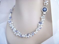 Multi Strand Pearl Necklace  Statement Keshi Pearl by BeadzNBling, $200.00