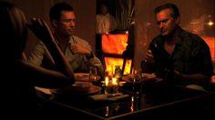 "Burn Notice 4x14 ""Hot Property"" - Michael Westen (Jeffrey Donovan), Sam Axe (Bruce Campbell) & Natalie Rice (Callie Thorne)"
