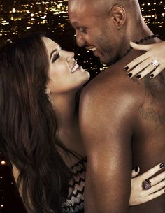 Khloe and Lamar Odom #Kardashian #Kim #Kourtney