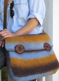 NobleKnits Yarn Shop  - Ilga Leja Kauni Messenger Bag Felted Knitting Pattern, $9.95 (http://www.nobleknits.com/ilga-leja-kauni-messenger-bag-felted-knitting-pattern/)