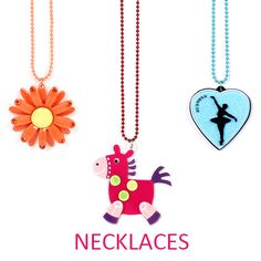NECKLACES - APPLE PIE JEWELRY ACRYLIC KAWAII JUST PLAIN COOL