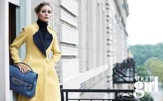 Olivia Palermo Models Fall/Winter 2012 Jill Stuart Bag for Vogue Girl // The socialite and fashionista welcomes fall with chic NYC style!