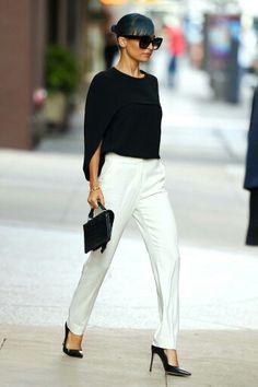 Nicole Richie black and white look