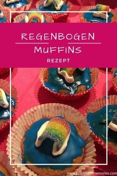 muffins rezept regenbogen fondant puderzucker zitrone zitronensaft lebensmittelfarbe blau f rben. Black Bedroom Furniture Sets. Home Design Ideas