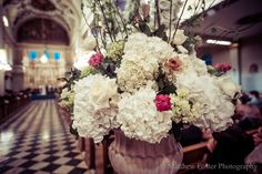 Photo by Matthew Foster Designed by Dunn and Sonnier Close up of Aisle Entrance Arrangement