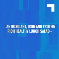 Antioxidant, Iron and Protein Rich Healthy Lunch Salad http://blog.boylazy.com/recipe/antioxidant-iron-rich-healthy-lunch-salad/?utm_campaign=crowdfire&utm_content=crowdfire&utm_medium=social&utm_source=pinterest