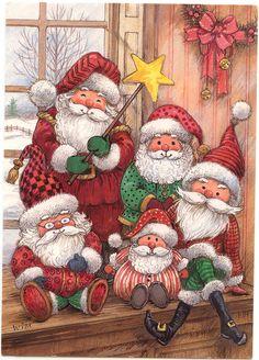 different-santa-greeting-card.jpg (771×1072)