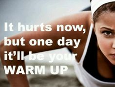 LOL!! Oh this reminds me of how hard it was getting through my first insanity warm up. After the warm up and then the stretch I realized there was like 30 minutes of craziness left... I wanted to cry!!! But now I just smile because I love it! ♥