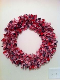 What more can I say...: Valentine's Day Rag Wreath