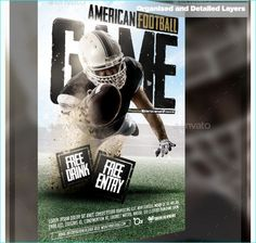 50 best football flyer templates images on pinterest flyer american football game party flyer templates for clubs business marketing maxwellsz