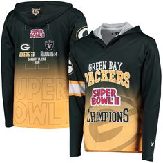 NFL Green Bay Packers Klew On the Fifty Matchup Hooded Long Sleeve T-Shirt - Yellow