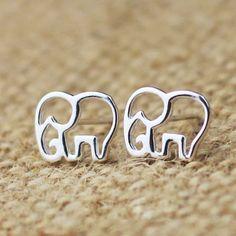 Unique Hollow Out Elephant Earring &Stud