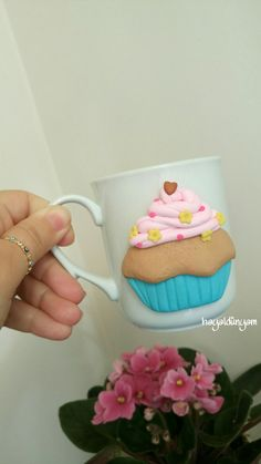 Cupcake mug, Cupcake kupa, Handmade , Elemeği hediyelik,
