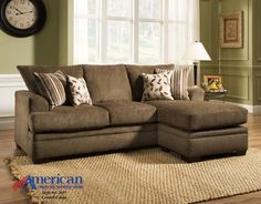 Chesterfield Sofa  OVERSTOCK MODEL CLEARANCE American Cornell Cocoa Collection Sectional Sofa CL LAST