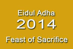 Regular Holiday On October 6 2014 In Observance Of Eidul Adha Feast
