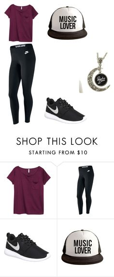 """""""Music Lover"""" by okcaitlyn on Polyvore featuring H&M and NIKE"""