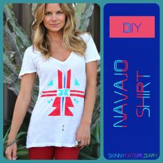 My latest...DIY - Tribal Print T-Shirt!