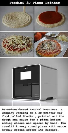 Made by Natural Machines, the Foodini is aiming to eventually be a typical kitchen appliance like a toaster or microwave, only this one has the ability to make ravioli, cookies, or yes, a whole pizza pie.
